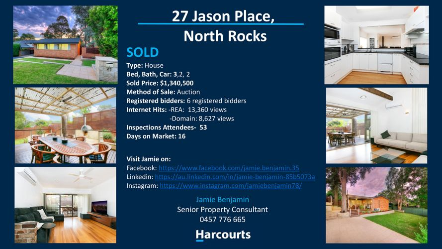 SOLD! 27 Jason Place, North Rocks
