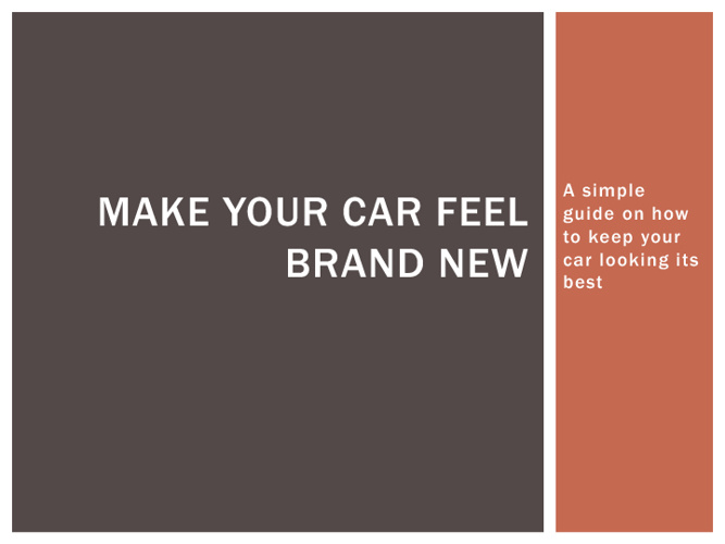 Make your car feel brand new