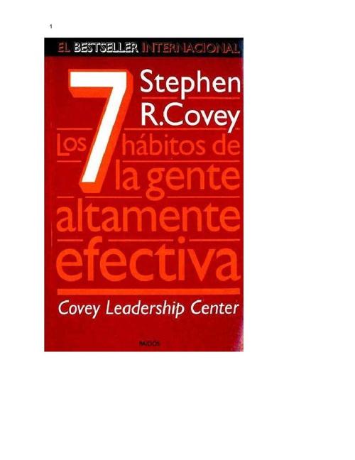 los 7 habitos de la gente altamente efectiva- steven covey