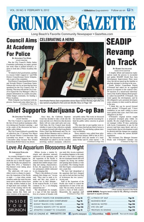Grunion Gazette | February 9, 2012