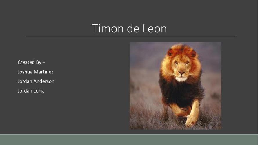 1andeson.j19 and martinez.j timon the leon