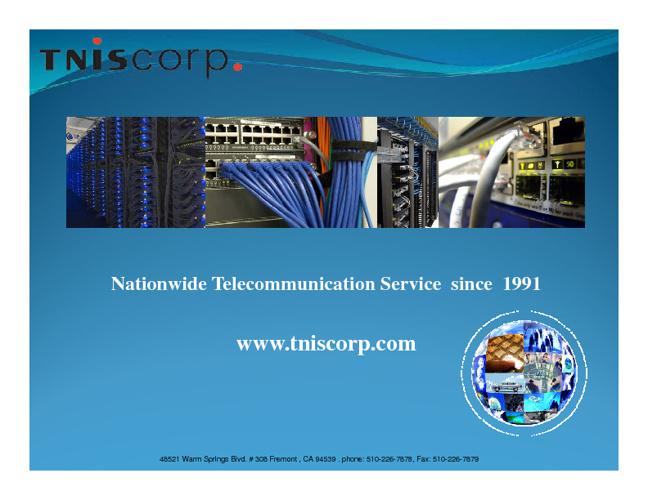 TNIS Corp Presentation