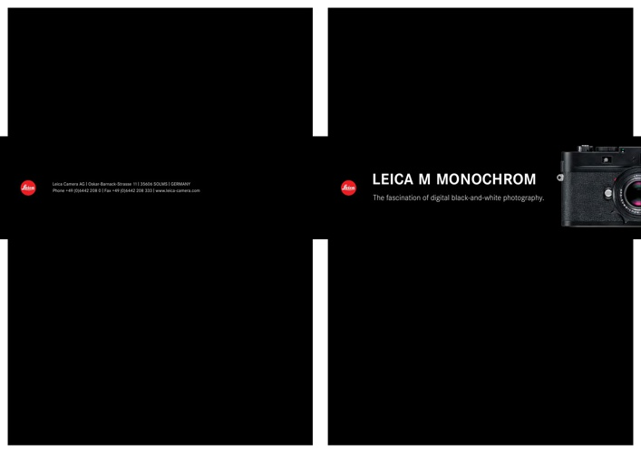 Leica Monchrom Brochure by Red Dot Cameras