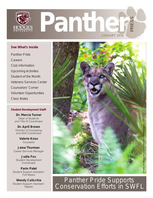 January 2016 Panther Press