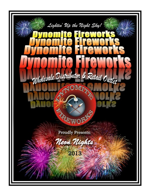 2013 Dynomite Fireworks Wholesale Catalog