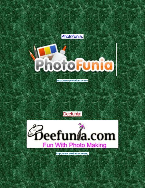SITIOS EN WEB PARA FOTOMONTAJES