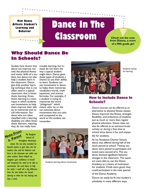 Copy of Dance In the Classroom