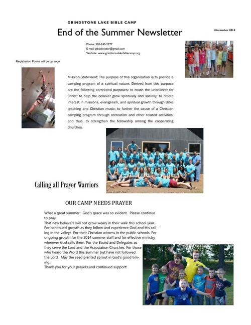 End of Camp Newsletter Flip Book