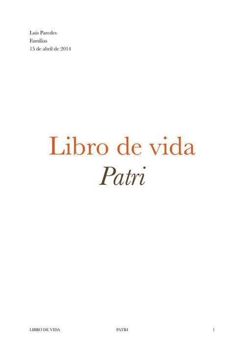 LIBRO DE VIDA PATRI