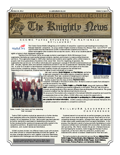Knightly News Fall 2012