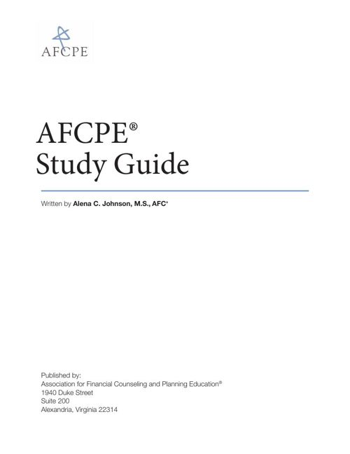 AFCPE: AFC Study Guide Flashcards | Quizlet