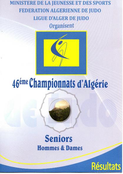 Résultats 46 ème Championnats d'Algérie