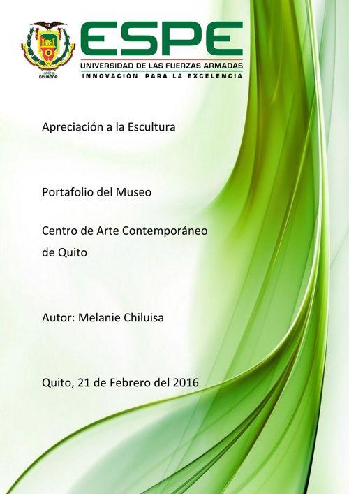 Portafolio Centro de Arte Contemporaneo de Quito