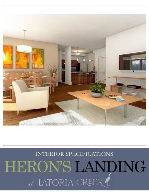 Copy of Heron's Landing at Latoria Creek Specifications
