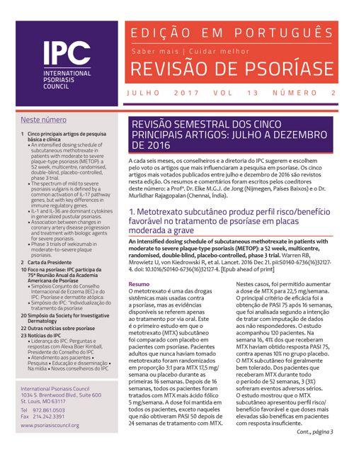 Revisão de Psoríase do IPC - julho 2017