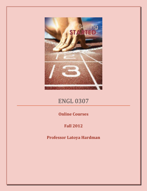 ENGL 0307 Course Packet for Online Students