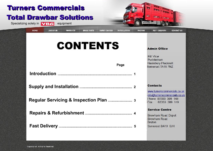 TURNERS COMMERCIALS