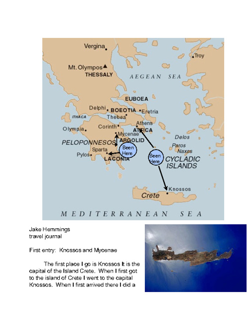 History travel journel