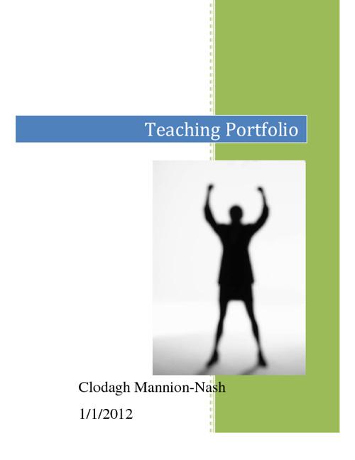 Portfolio of Evidence of Clodagh Mannion-Nash