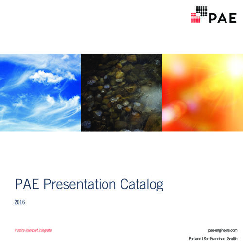 PAE Presentation Catalog