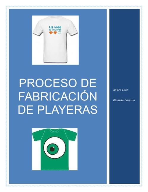 Proceso de Fabricación de Playeras