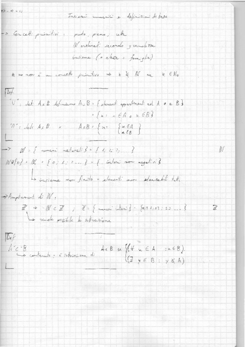 Copy of APPUNTI DI MATEMATICA 1°