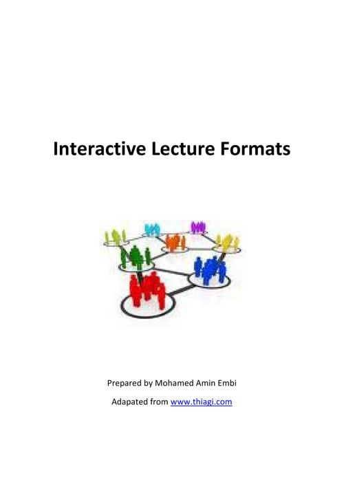 Interactive Lecture Format