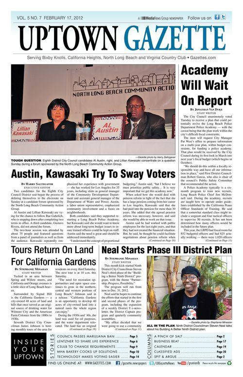 Uptown Gazette     February 17, 2012