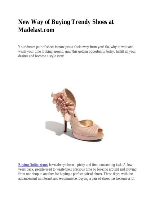 New Way of Buying Trendy Shoes at Madelast.com