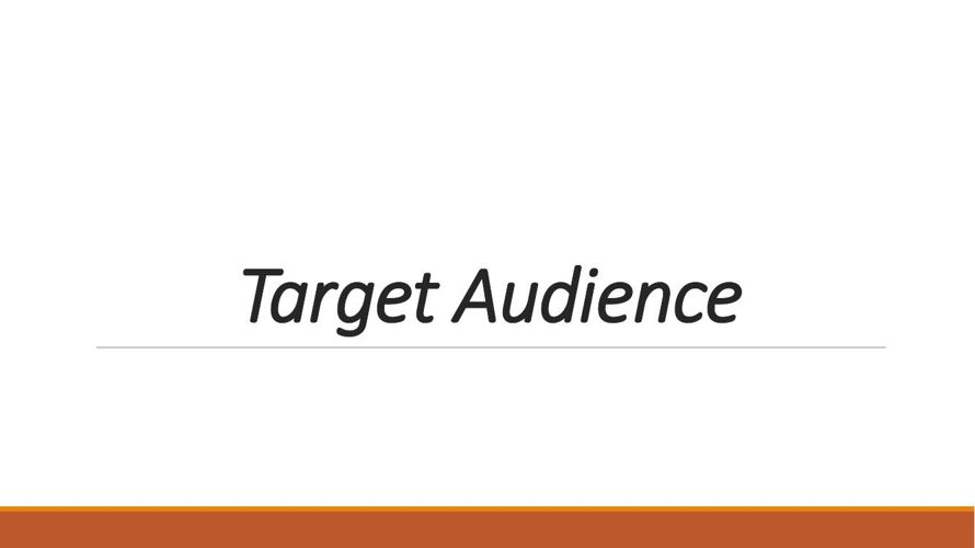 EVALUATION I - TARGET AUDIENCE LABEL