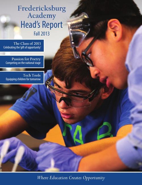 Fredericksburg Academy Head's Report, Fall 2013