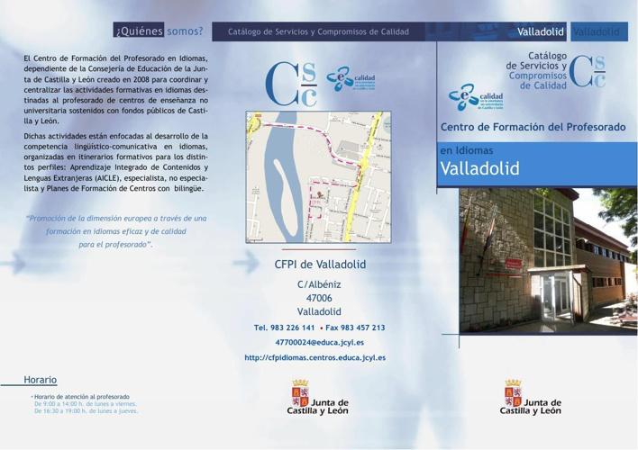Catálogo de servicios CFPI