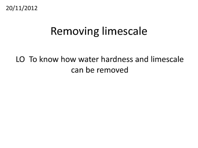 Removing limescale