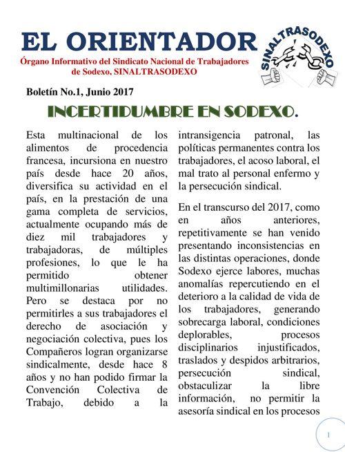 Boletin Sinaltrasodexo