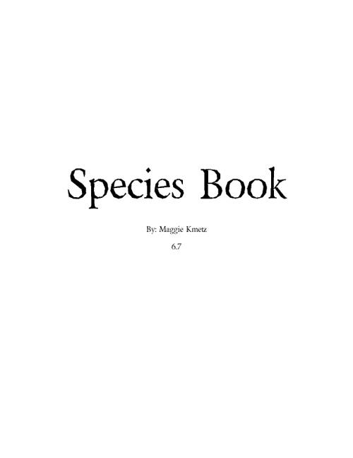 6.6 Species Book