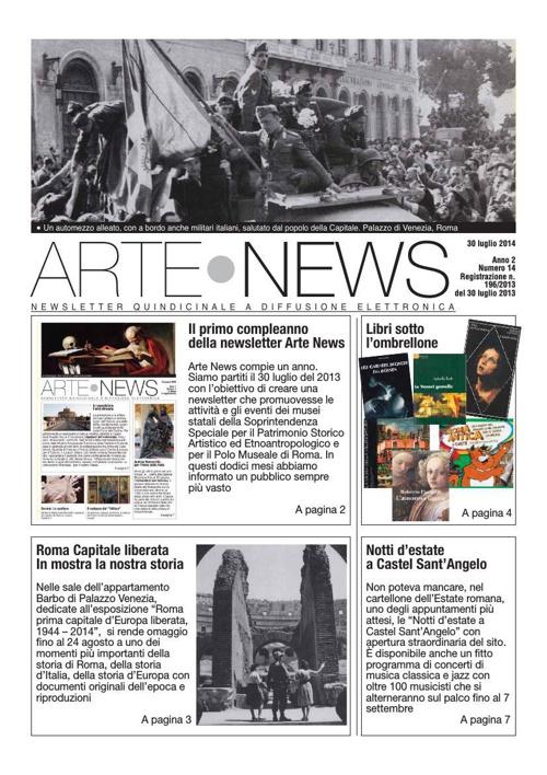 """""""Arte News"""" - 30 luglio 2014"""