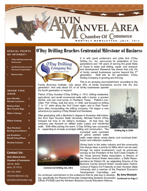 AMACC July 2012 Newsletter