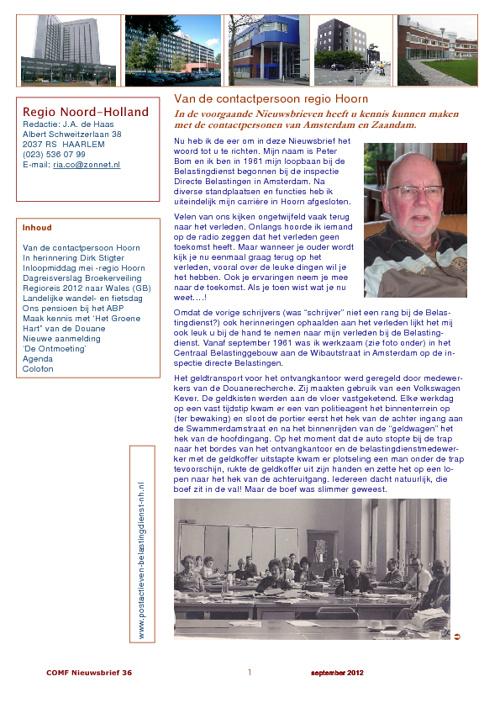 COMF-Nieuwsbrief 36