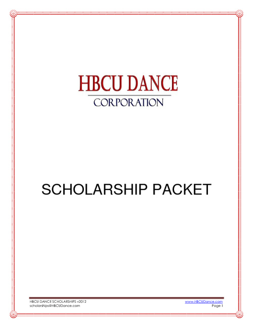 HBCU Dance Applications
