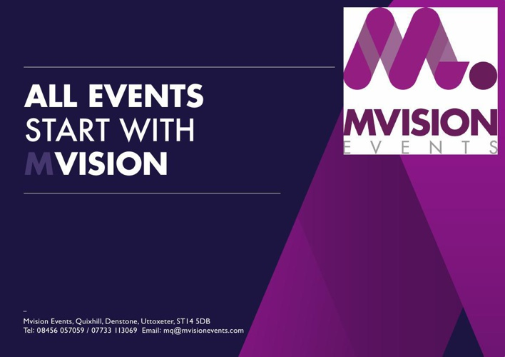 Mvision Events Ltd - Our Work