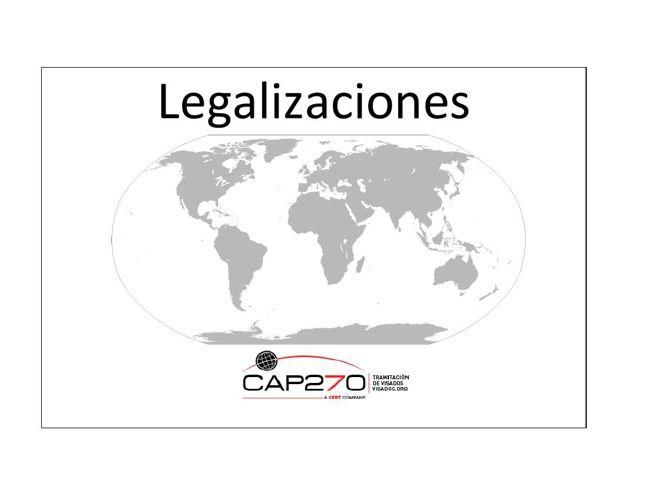 Legalizaciones CAP270