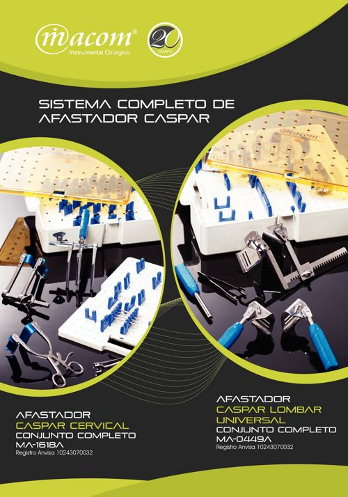 Macom - Sistema Completo de Afastador Casper