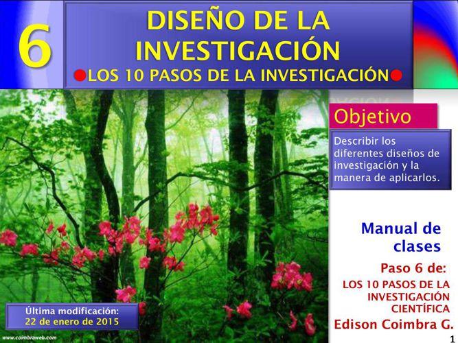 Paso06 - Investigacion_en_10_pasos - Diseño de la investigación