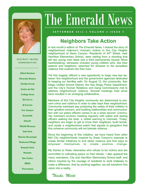 The Emerald News: Volume 4, Issue 9 (September 2012)