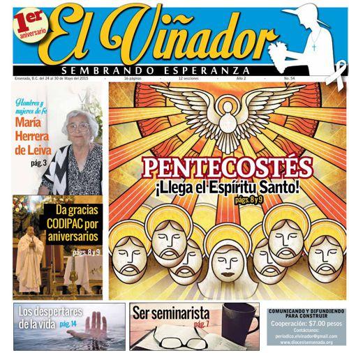 Periódico El Viñador 24 al 30 de mayo 2015