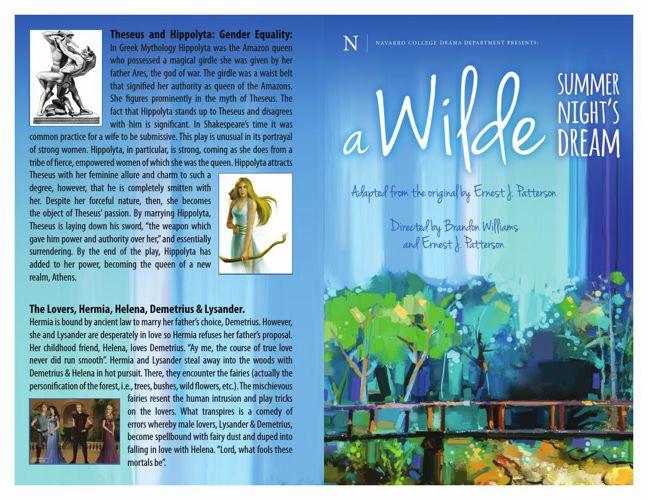A Wilde Summer Night's Dream Program