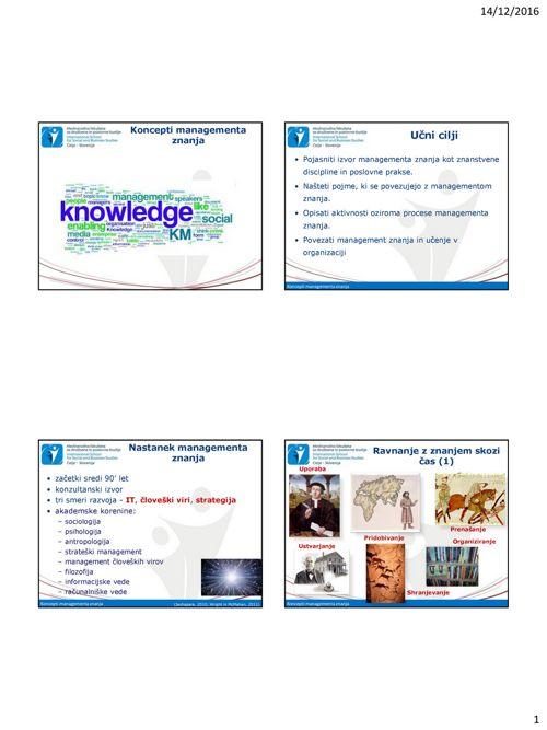 Predavanje SMZ_4_Management znanja
