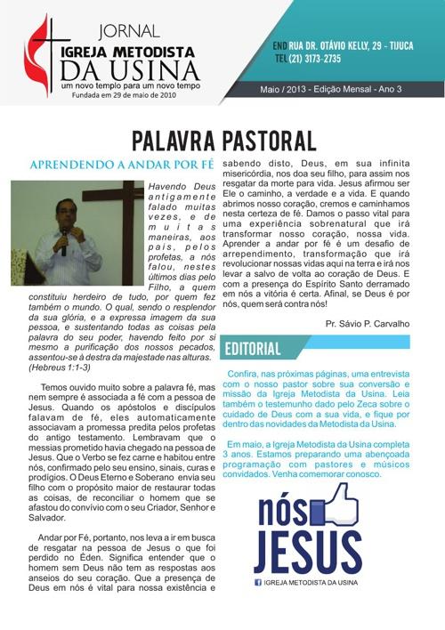 Jornal Metodista da Usina - Maio/2013
