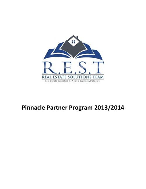 Pinnacle Partner Program 2013