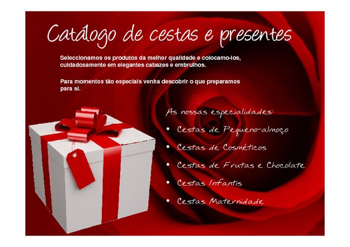 Catálogo de Cestas e Presentes